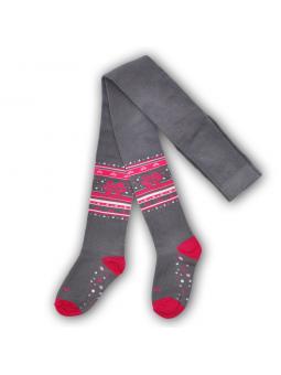 Girls cotton tights BOW grey