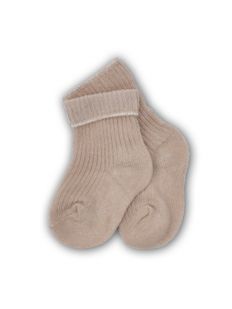 Baby pressure free socks beige