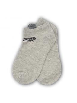 Trumpos kojinės pilkos melanžo