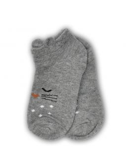 Trumpos kojinės pilkos katinas