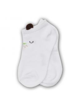 Trumpos kojinės baltos