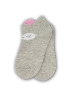 Trumpos kojinės pilkos