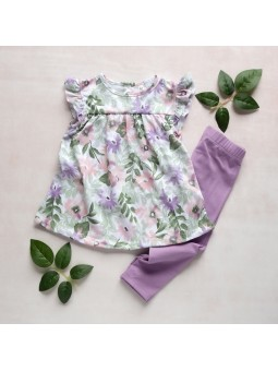 Flowered girls tunic and...