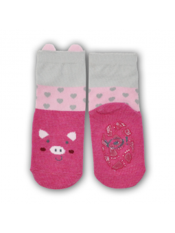 Silicone sole socks Pig