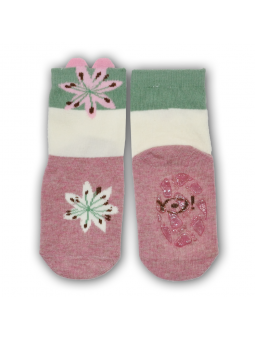 Silicone sole socks Flower