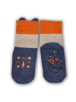 Silicone sole socks Tiger