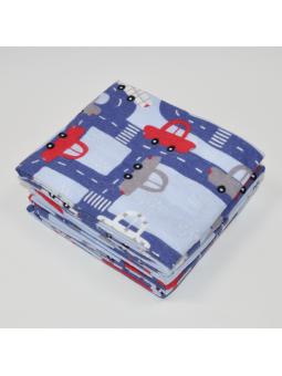 Flannel diaper TRAFFIC blue