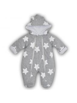 Baby overall STARS grey