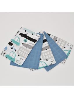 Muslin diapers mini blue...