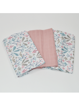 Muslin diapers pink 60x80cm...