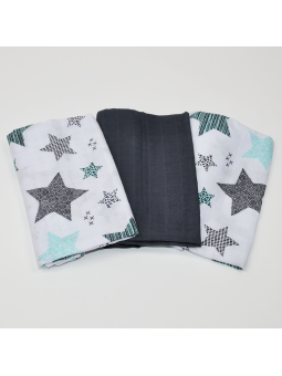 Muslin diapers graphite...