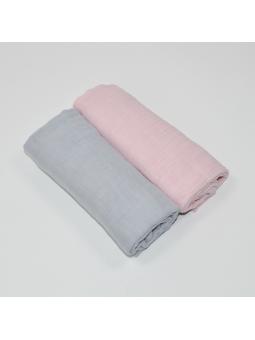 Muslin diapers grey pink...