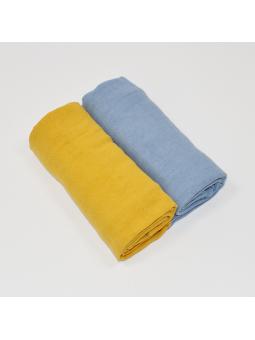 Muslin diapers blue mustard...