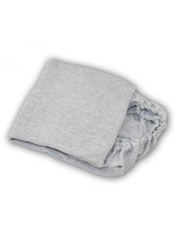 Pilko melanžo paklodė su guma