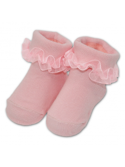 Baby cotton socks with lace...