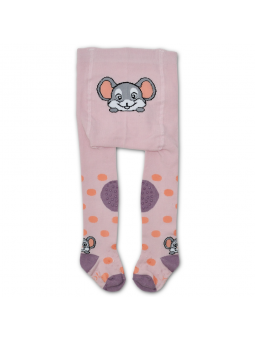 Crawling tights MOUSE pink