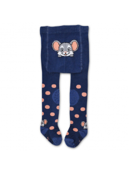 Crawling tights MOUSE blue