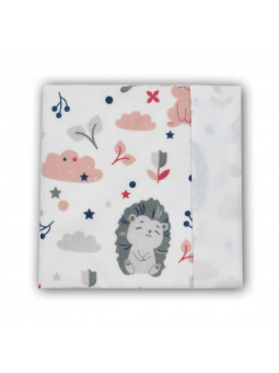 Waterproof diaper BUNNY pink