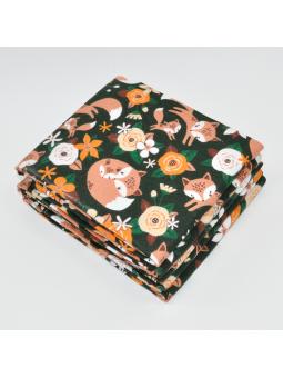 Flannel diaper FOX dark green