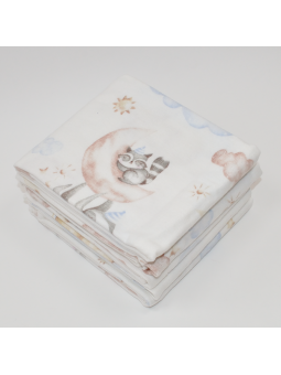 Flannel diaper SLEEP white