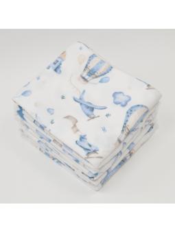 Flannel diaper PLANE white