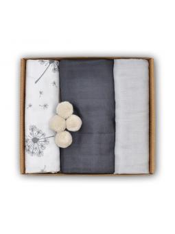 Muslin diapers grey set...