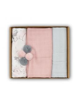 Muslin diapers pink set...
