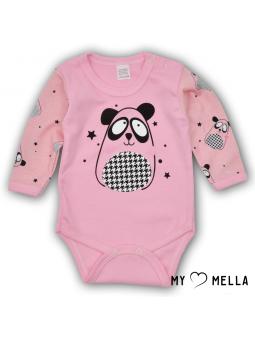 Baby bodysuite DOG pink