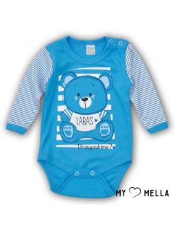 Baby bodysuite HELLO blue