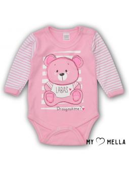 Baby bodysuite HELLO pink