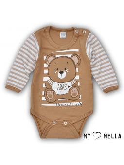 Baby bodysuite HELLO beige