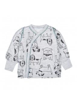 Baby t shirts warm DOGS grey
