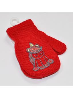 Red kids gloves UNICORN