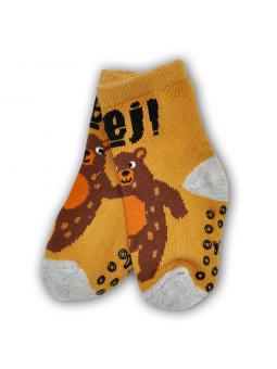 Boys ABS socks BEAR brown