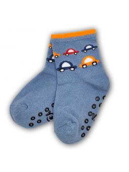 Boys ABS socks CAR blue