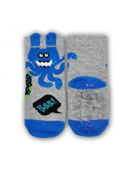 Silicone sole socks grey