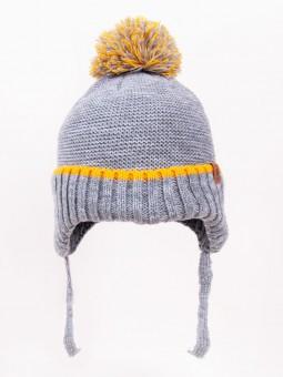 Winter baby cap grey