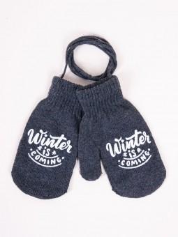 Kids gloves WINTER graphite