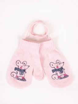 Kids gloves MOUSE pink