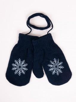 Kids gloves SNOWFLAKE navy