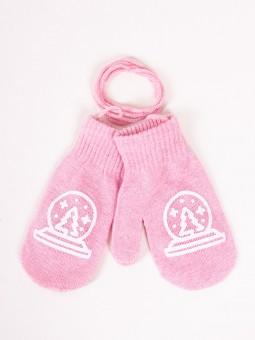 Kids gloves TREE pink