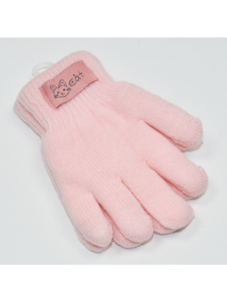 Double kids gloves pink
