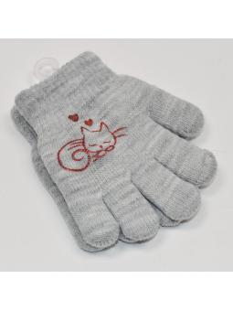 Double kids gloves grey