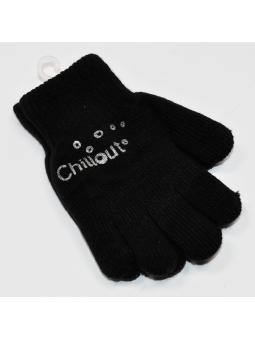 Double kids gloves black