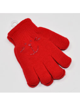 Double kids gloves red
