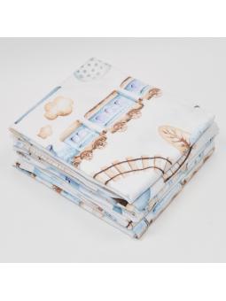 Flannel diaper TRAIN white