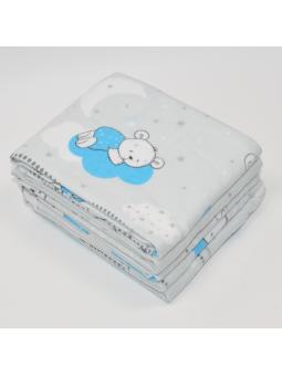 Flannel diaper SKY BEAR grey