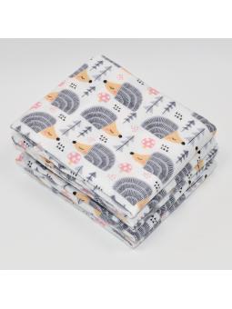 Flannel diaper HEDGEHOG grey