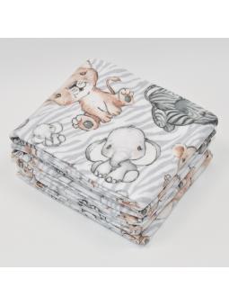 Flannel diaper SAFARI grey