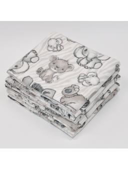 Flannel diaper SAFARI beige